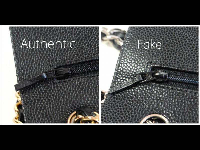 5ef7660fd6ae Видите, что на подделке используется самый распространённый бегунок на  молнии, в смысле его формы. У оригинальных сумок Шанель бегунок отличается.